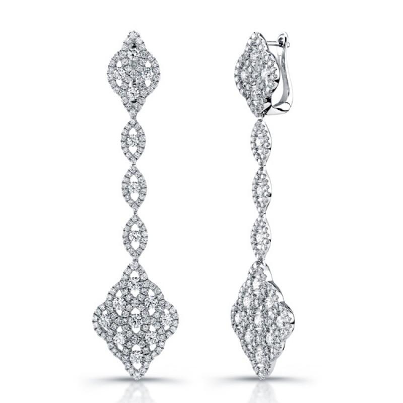 Uneek 18K White Gold and Diamond Earrings E227