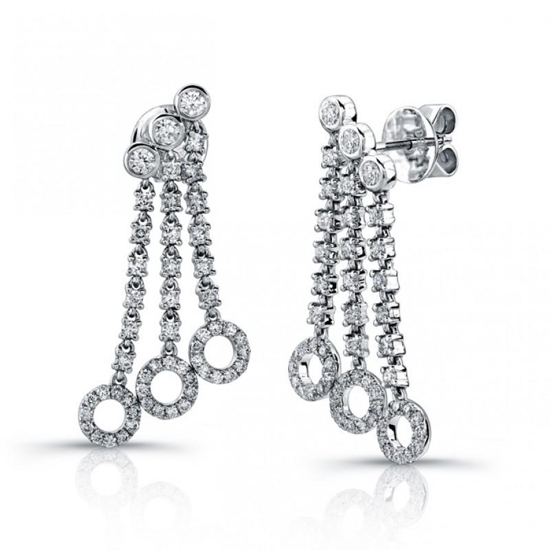 Uneek 18K White Gold and Diamond Earrings E236