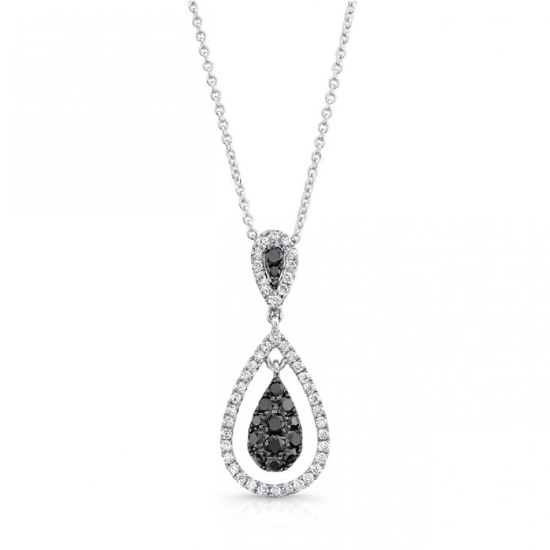 14k white gold black pear shaped diamond pendant l 14k white gold black pear shaped diamond pendant lvn017bl mozeypictures Images