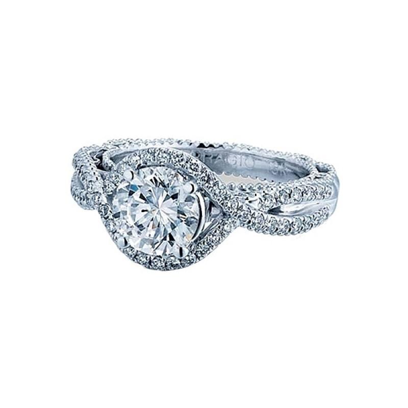 Verragio Twist Halo Diamond Engagement Ring