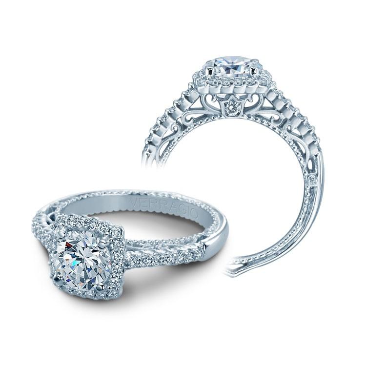 Verragio Sidestone Stone Diamond Engagement Ring