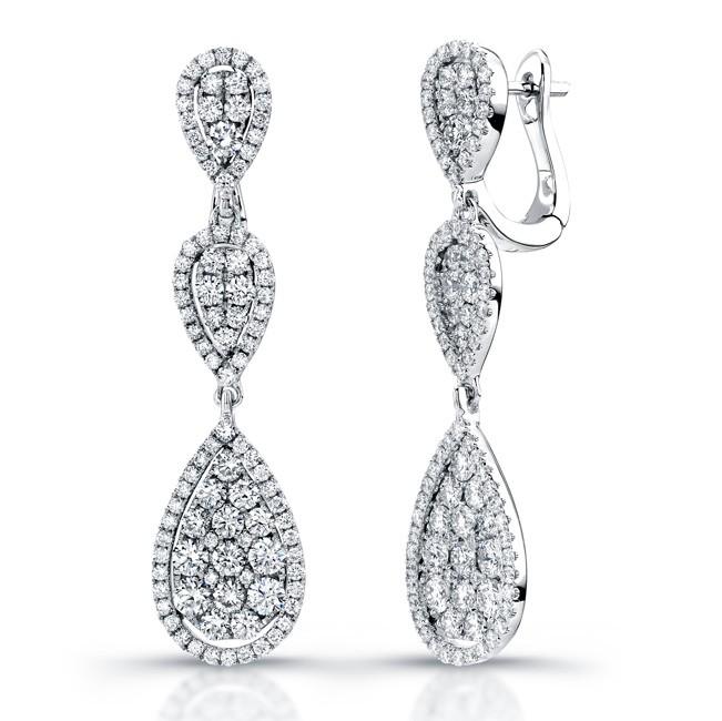 Uneek 18K White Gold and Diamond Earrings E228