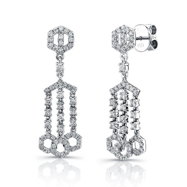 Uneek 18K White Gold and Diamond Earrings E237