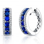Saphisto Collection 14K White Gold Sapphire Earrings E225
