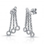 Uneek 18K White Gold and Diamond Earrings E236