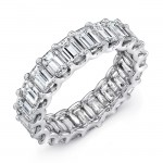 Uneek Platinum Emerald Cut Diamond Eternity Band-ETEC400