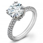 Uneek Platinum Round Diamond Engagement Ring LVS263