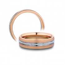 Verragio White & Rose Gold Men's Wedding Band