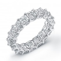 Uneek Platinum Asscher Cut Diamond Eternity Band-ETAS200
