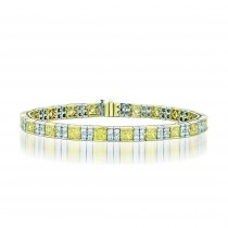 Natureal Collection Platinum Princess-Cut Fancy Yellow Diamond Bracelet LBR027