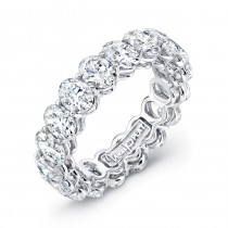 Uneek Oval Diamond Platinum Eternity Band LVB155
