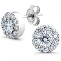 Uneek 14K White Gold Diamond Stud Earrings LVE214