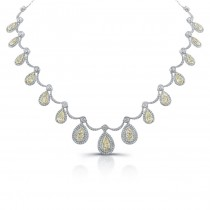 Natureal Collection Platinum and 18K Yellow Gold White and Yellow Diamond Necklace LVN595