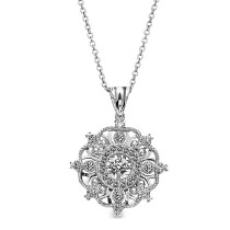 Uneek 18K White Gold Diamond Necklace nek100