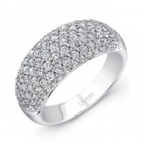 Uneek Pave Set Diamond White Gold Ring Medium LVBW7108M