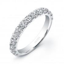 Uneek 14-Diamond U-Pave Wedding Band in 14K White Gold