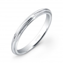 """Uneek """"Tri-Fluted"""" Wedding Band in 14K White Gold"""