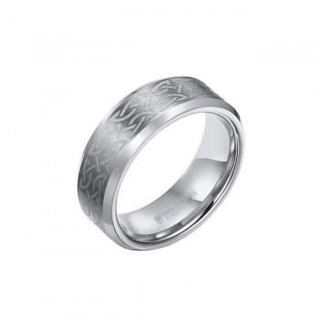 Triton 8mm Tungsten Carbide Satin Finish Bevel Edge Comfort Fit Band 11-01-2820