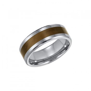 Triton 8mm Tungsten Carbide Bevel Edge Comfort Fit Band 11-01-2888