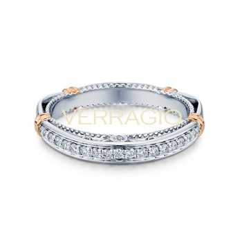 Verragio Parisian Collection 14k Gold Wedding Ring D-128W-GOLD
