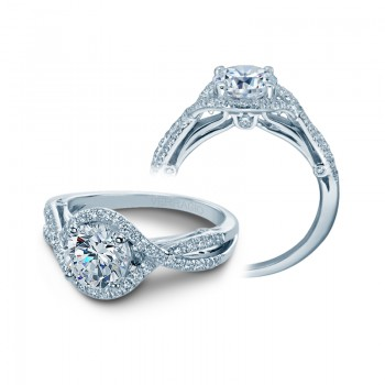 Verragio Twist Shank Diamond Engagement Ring