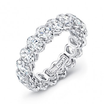 Uneek Platinum Oval Cut Diamond Eternity Band -ETOV600