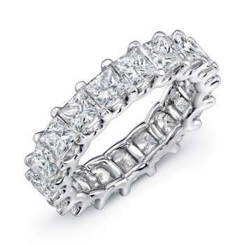 Uneek Princess Cut Diamond Platinum Eternity Band-ETPC400