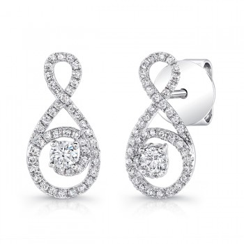 Petite Bouquet Collection 14K White Gold Diamond Earrings LVEJ07
