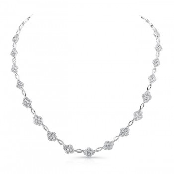 18K White Gold Diamond Necklace LVND05