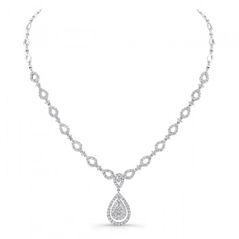 18K White Gold Diamond Necklace LVNM03