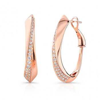 Uneek Hoop Diamond Earrings LVEW437R
