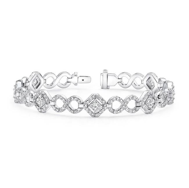 Uneek Princess Cut Diamond Bracelet with Infinity